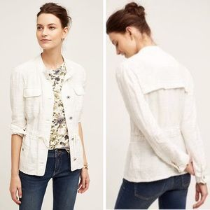 Anthro Hei Hei White Cotton Breakaway Jacket